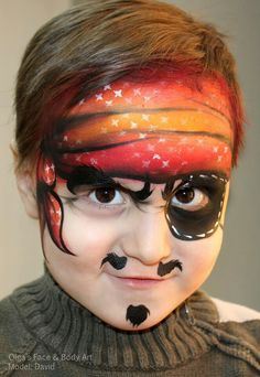 Olga Meleca pirate face painting