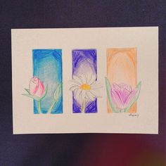 """#draw #drawing #tulip #rose #daisy #flowers #art #artcomplexcritique #artist_features #instaart #instagood #colourpencil #artwork"""