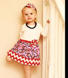 BOUTIQUE red chevron and penguin.... CHRISTMAS DRESS..Holiday outfit
