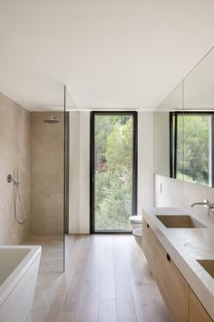 Interior design project at Mallorca by interiorism studio Jorge Bibiloni Studio. AS House Read Bathroom Design Inspiration, Modern Bathroom Design, Bathroom Interior Design, Minimalist Bathroom Inspiration, Minimal Bathroom, Modern Interior, Beautiful Bathrooms, Minimalist Home, Small Bathroom