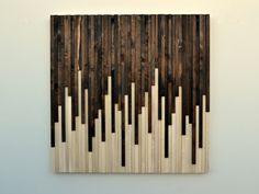 Wall Art Art mural en bois rustique bois par moderntextures