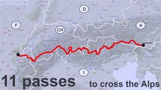 11 Passes to cross the Alps