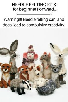 How to needle felt. There is a reason that needle has taken crafting world by storm; you need just one thing…enthusiasm! No tricky patterns. No wires. No expensive fancy equipment. You don't have to be artistic or even creative and all Wool Needle Felting, Needle Felting Tutorials, Needle Felted Animals, Wet Felting, Felt Animals, Felted Wool Crafts, Felt Crafts, Sewing Stuffed Animals, Felt Toys