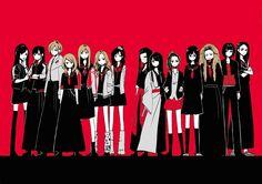 Pinterest Character Inspiration, Character Design, Japanese Mythology, Pop Art Girl, Beautiful Fantasy Art, People Illustration, Creepy Art, Pink Art, Manga