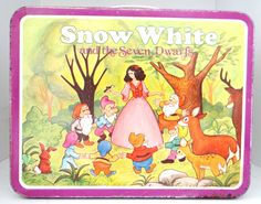 Want want want and need. Vintage Lunch Box Snow White and the Seven Dwarfs by thewildburro, $25.00