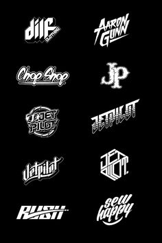 Typo-logo with motobike vintage style Sports Graphic Design, Graphic Design Typography, Lettering Design, Typography Served, Logo Typo, Dj Logo, Logo Atelier, Badge Design, Custom Fonts