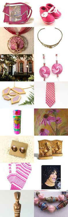 Touches of Pink and Gold by pattichic on Etsy--Pinned with TreasuryPin.com