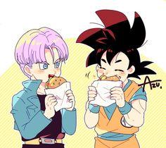 Trunks and Goku
