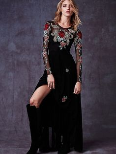 Black Elizabeth dress @ free people $350