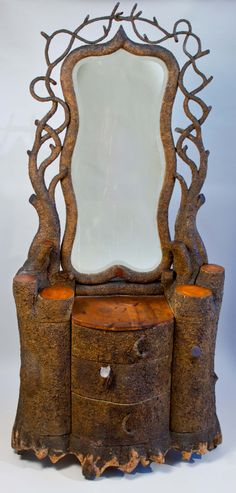 Earthy Tree/Wood Dresser with Mirror from the Edward Thorp Gallery
