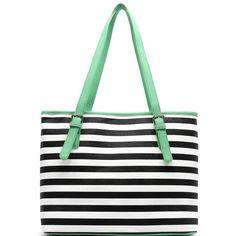 86d7c168aa53 Striped Shopper - Mint – Sparkle   Jade Boutique Coco Chanel