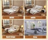 Buy Bed, Modern Leather Bed, 2 Nightstands & Mattress And Other Bedroom Furniture Sets at Nofran Furnitures Leather Headboard, Leather Bed, Bedroom Furniture Online, Home Furniture, Bedroom Bed Design, Master Bedroom, Headboard Designs, Nightstands, Furniture Styles