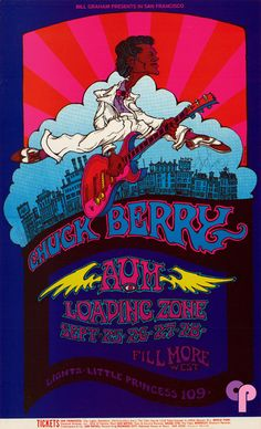 Chuck Berry at Fillmore West 9/25-28/69 by Greg Irons. Lights by Little Princess 109