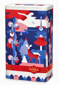 Tänään tiistaina julkaistiin tämän vuoden Pauligin Juhla Mokka kahvipurkki ! Pauligin ja Arabian yhteistyön tulos: Piilopaikka -kahvirasia....
