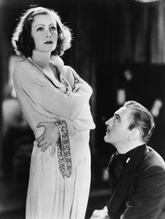 """Greta Garbo & John Barrymore in Grand Hotel (1932) Grand Hotel was the first film ever made with an """"all star cast."""" In addition to Garbo & J. Barrymore, Joan Crawford, Wallace Berry & John's father, Lionel Barrymore shared the spotlight. Although a common occurrence in today's movies, the film was a pioneer at the time."""