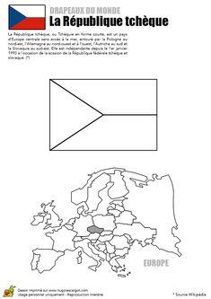 coloriage facile du drapeau de la rpublique tchque