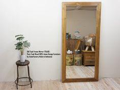 貴重オールドチーク無垢姿見鏡170cm・全身ミラー_アジアン家具1