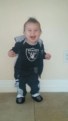 Raider fan in the making.