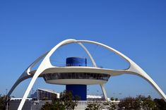 The Theme Building at Los Angeles International Airport (LAX).