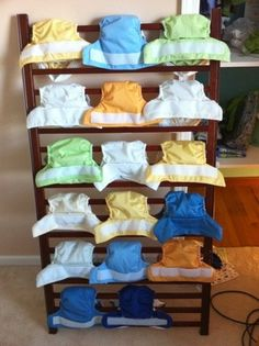 cloth diaper drying rack - lean against the house outside.