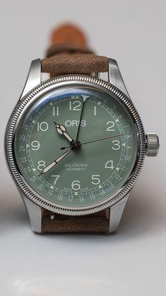 Oris Big Crown Pointer Date 36 Green - anabel Mens Designer Watches, Luxury Watches For Men, Dream Watches, Cool Watches, Rolex, Gentleman Watch, Fendi, Breitling, Beautiful Watches