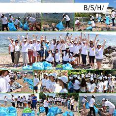 """21 Temmuz BSH Gelecek Günü kapsamında Deniz Temiz Derneği-Turmepa işbirliğiyle Kınalıada'da """"Kıyı Temizleme Gönüllülük Hareketi"""" etkinliği düzenledik. Etkinliğe gönüllü katılan BSH çalışanları sürdürülebilir ve temiz bir gelecek için sahilden toplam 67 kilo atık topladı. Atıklardan 11 kilo kağıt ile 275 lt su tasarrufu sağlanırken, 28 kilo plastik ile 392 kwh enerji tasarrufu elde edildi. 22 kilo cam ile 2,2 lt petrol tasarrufu sağlanırken, 6 kilo metal atık ile ise 7,8 kilo hammadde…"""