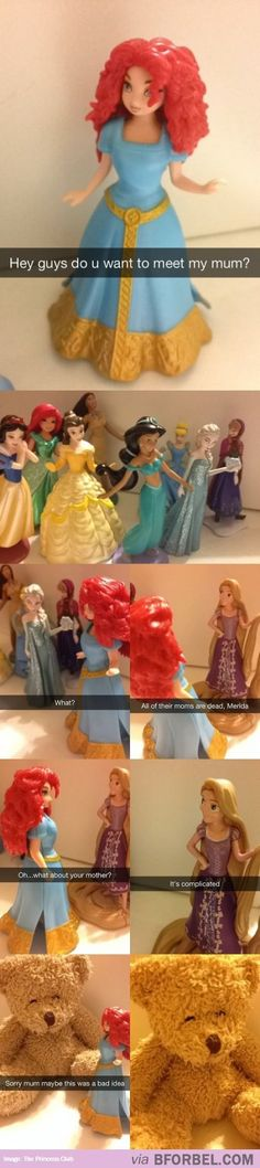 Disney Princesses Talking About Mothers…