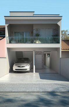 Casa de alvenaria de dois andares