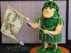 """""""Sparty"""" the Michigan State University Spartan 