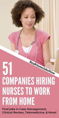 If you are a nurse looking for legitimate work from home jobs, look no further! As the healthcare field continues to grow, so do work from home medical jobs. This list of 51 companies represents remote jobs for registered nurses in telehealth, clinical re Rn Jobs From Home, Work From Home Companies, Nursing Resume, Nursing Career, Nursing Schools, Careers In Nursing, Best Nursing Jobs, Nursing Blogs, Funny Nursing