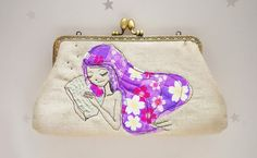 Good dreaming Clutch Bag Free Motion by lazydoll on Etsy
