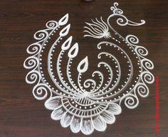 50 Home Rangoli Designs (Rangoli Ideas) - September 2019 Simple Rangoli Border Designs, Easy Rangoli Designs Diwali, Rangoli Simple, Indian Rangoli Designs, Rangoli Designs Flower, Rangoli Borders, Free Hand Rangoli Design, Small Rangoli Design, Rangoli Patterns