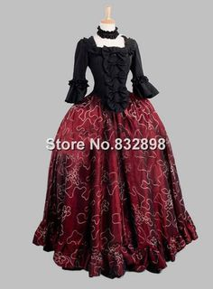 Look great in one of these victorian ball gowns now at DevilNight!You will never miss the collection of victorian dresses. Victorian Ball Gowns, Victorian Era Dresses, Victorian Fashion, Gothic Fashion, 1870s Fashion, Cosplay Dress, Costume Dress, Wicked Clothing, Masquerade Ball Gowns
