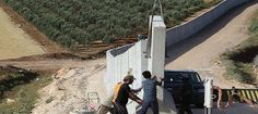 Turquía construye muro en frontera con Siria