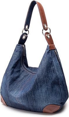 Shop a great selection of Womens Handbag Purse Denim Tote Hobo Shoulder Crossbody Bags Denim. Find new offer and Similar products for Womens Handbag Purse Denim Tote Hobo Shoulder Crossbody Bags Denim. Denim Tote Bags, Denim Handbags, Denim Purse, Leather Hobo Handbags, Purses And Handbags, Crossbody Bags, Quilted Handbags, Mk Handbags, Quilted Bag
