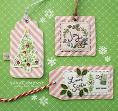 Pretty handmade tags. Love the airmail one. <3