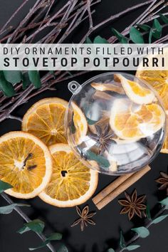 Learn how to make DIY stovetop potpourri ornaments using plastic ball ornaments. The perfect hostess gift or small party favor this holiday seasons. Modern Christmas Decor, Christmas Diy, Christmas Decorations, Salt Dough Christmas Ornaments, Pot Pourri, How To Make Diy, Holiday Fun, Holiday Ideas, Holiday Recipes