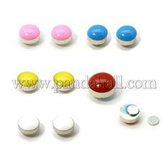 Enameled Acrylic Magnetic Ear StudsEJEW-I055-06-1