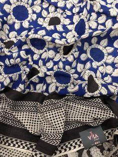 Printed Kalamkari cotton saree with printed blouse PC with rich pallu Kalamkari Saree, Trendy Sarees, Cotton Saree, Printed Blouse, Running, Boutique, Collection, Racing, Keep Running