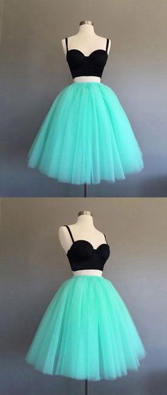 Two Pieces Homecoming Dress, Short Prom Dresses For Teens pst1649