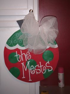 cute christmas door hanging