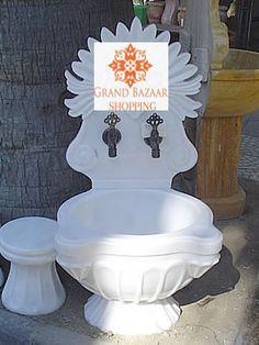 TWO PIECE LARGE HAMMAM SINK, 005 Turkish Coffee Set, Turkish Bath, Grand Bazaar, Handmade Shop, Decorative Plates, Sink, Gym, Gardens, Steam Room