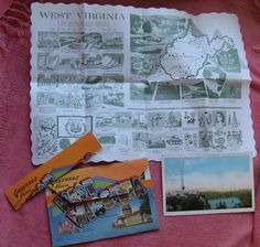 Vintage postcard and placemat
