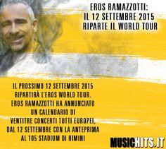 Vengono annunciate le date del nuovo tour di +Eros Ramazzotti