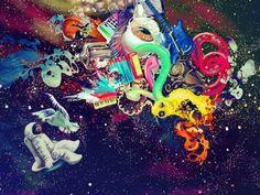 Trippy space art