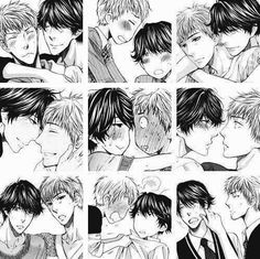 Fumi Shunpei Shonen Ai, Yaoi Hard, Kokoro, Fujoshi, Doujinshi, Manga Anime, Monochrome, Black And Grey, Cartoon