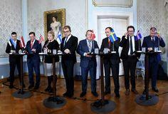 2017-11-01 Primeros Ministros y representantes de los cinco países nórdicos y los tres bálticos en el marco de la cumbre regional de 2017 en Helsinki (Finlandia). MARTTI KAINULAINEN AP
