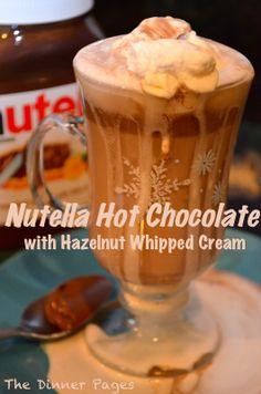 Nutella Hot Chocolate with Hazelnut Whipped Cream