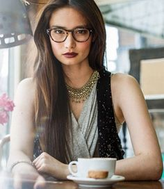 c7207aa2d4 One of the latest glasses trends for women is a return to retro styles.