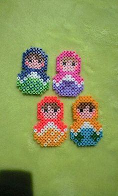 Matryoshkas perler beads
